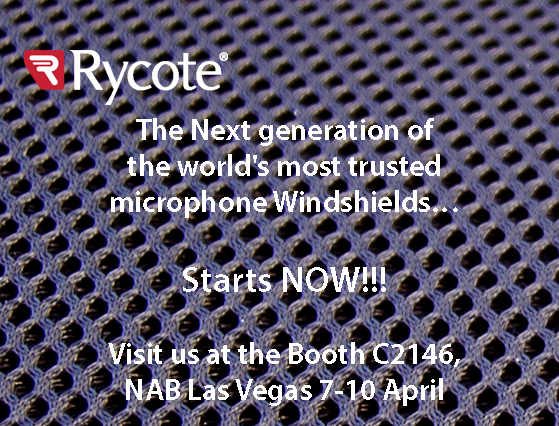 Rycote will be exhibiting at NAB 2014